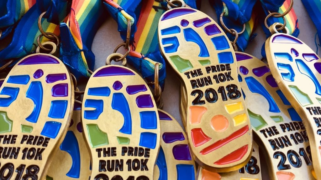 Pride Run 2018 Medals